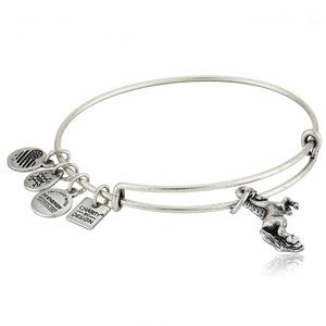 Unicorn Charm Bangle Bracelet